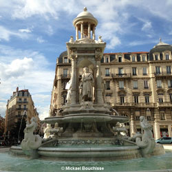 Fontaine des Jacobins in Lyon, France