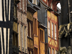Medieval Rouen buildings