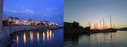 Alghero at night