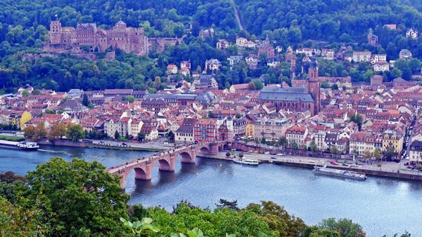 View of Heidelberg from Philosopher's walk