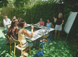 Ourdoor language course in Antibes