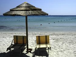 White sand beach in Alghero