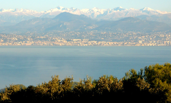 Snow capped Mountains Antibes