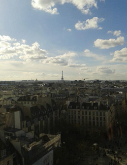 View of Eiffel Tower from Centre Georges Pompidou