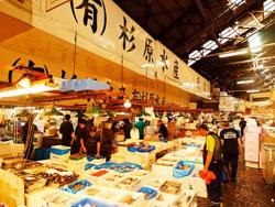 築地市場 Tsujuki fish market