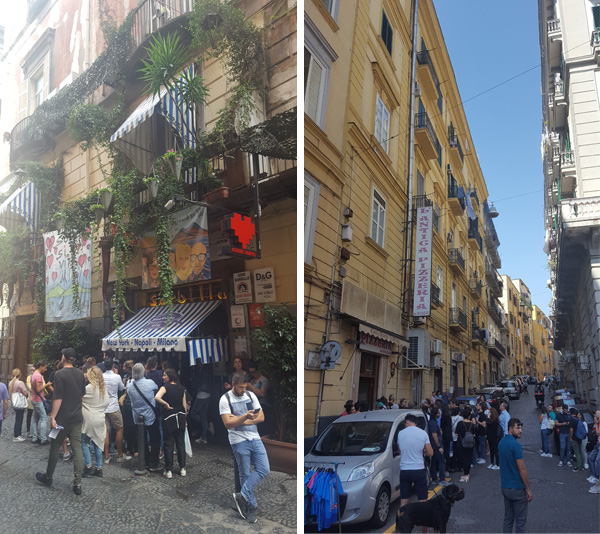 Queuing for pizza in Naples