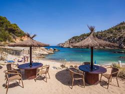 Sunny beach in Ibiza