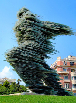 The Runner sculpture in Athens