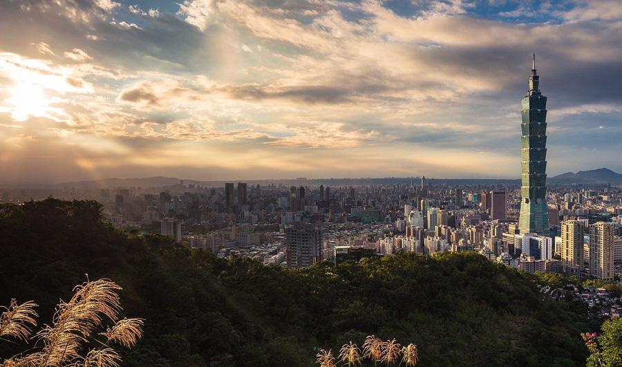 Taipei 101 skyscraper in Taipei, Taiwan