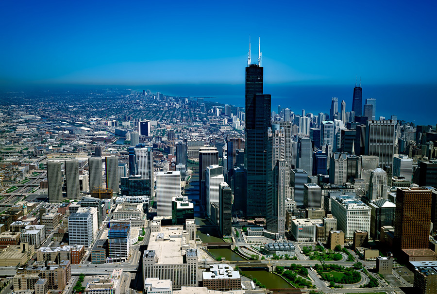 Willis Tower, formerly the Sears Tower in Chicago, USA