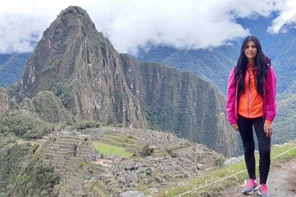 Monia at Machu Picchu in Peru