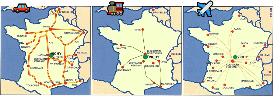 How to get to Vichy