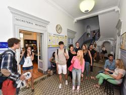 Entrance to the Italian school in Rome