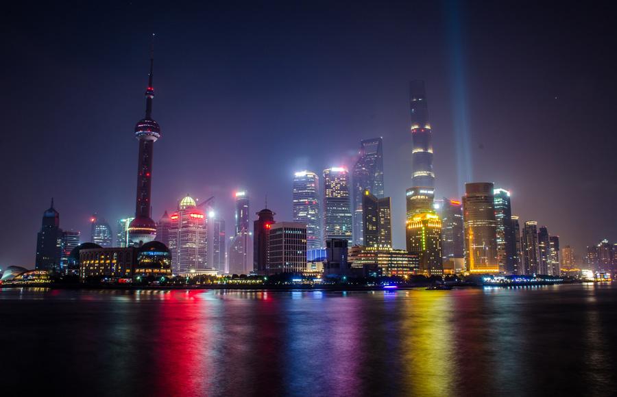 Bund at night Shanghai
