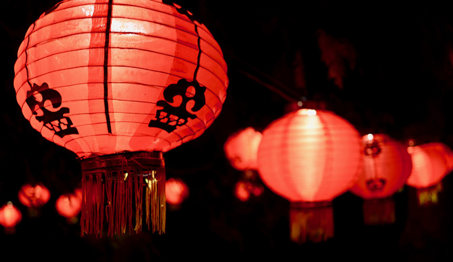 Red lanterns in Shanghai