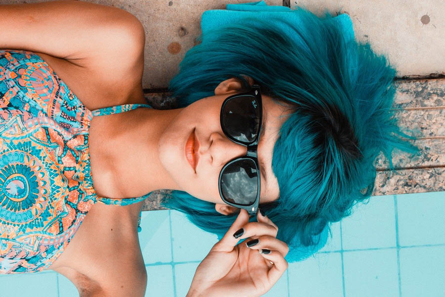 Blue hair French girl