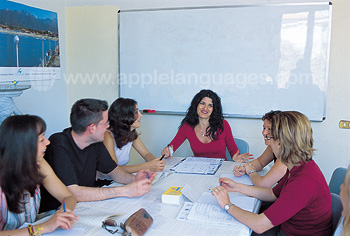 Italian lesson at our school in Viareggio