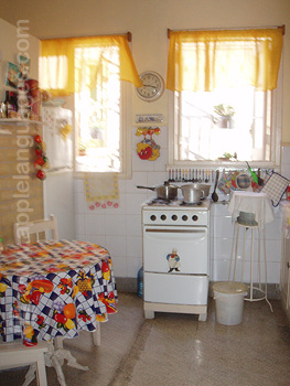 Kitchen in host family