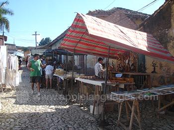 Street market, Trinidad