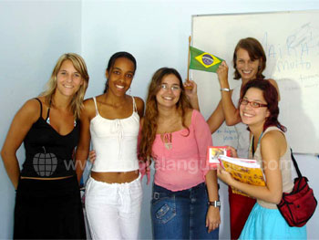 Portuguese class at our school in Maceió