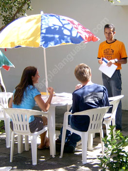 Learning Portuguese outside in the sunshine