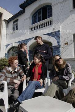 Outside our school in Santiago