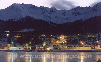 Ushuaia at sunset