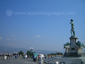 Piazzale Michelangelo, 5 mins from our school