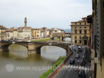 The view over the Arno from one of our classrooms