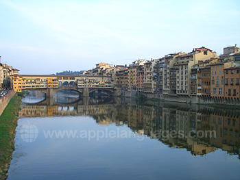 Ponte Vecchio and the River Arno in Florence