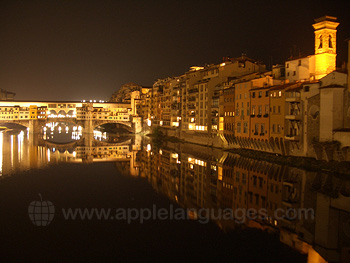 The Ponte Vecchio at night!