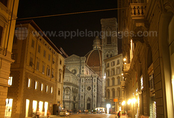 View of Santa Maria del Fiore Cathedral, known as The Duomo