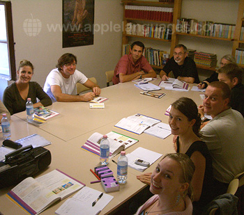 Italian lesson at our school in Florence