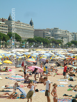 The beach, Cannes