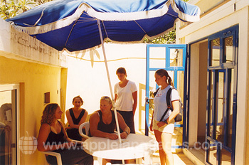 Students on school Patio