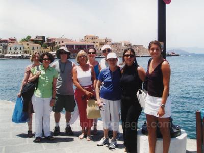 Students exploring Crete