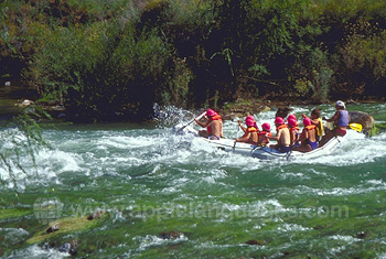 Students going rafting