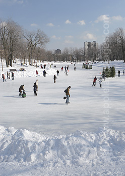 Montreal Park, winter time