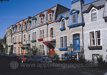 Typical street in Montreal