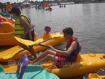 Preparing for canoeing