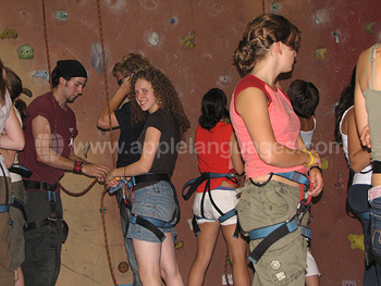 Preparing for rock climbing