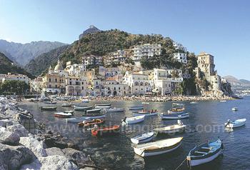 Salerno lies on the beautiful Amalfi coast