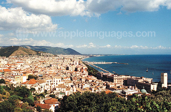 Panoramic view of Salerno