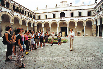 Students on a tour of Salerno