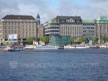 Hamburg from the river
