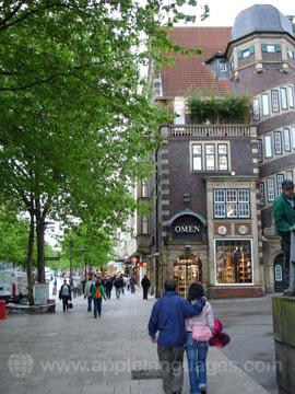 Typical Street in Hamburg