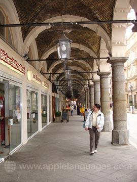 Shopping arcade in Hamburg