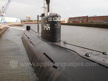 U-boat in Hamburg Harbour