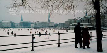 Hamburg in winter