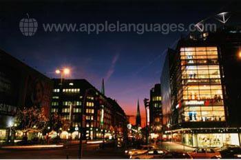 Night time in Hamburg